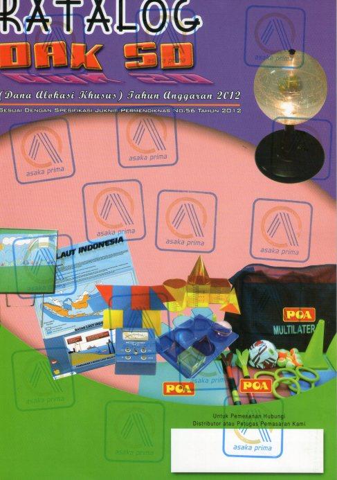 KATALOG DAK SD -ALAT PERAGA DAK 2012-2013